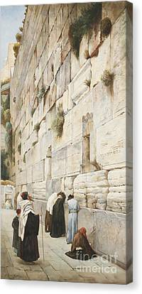 Western Wall Canvas Print by MotionAge Designs