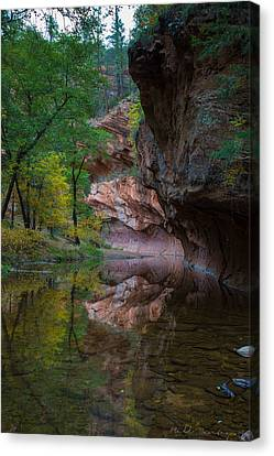 Westfork Fall Color Canvas Print by Bill Cantey