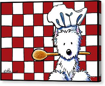 Westie Chef Canvas Print