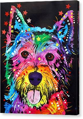 Westie Canvas Print by Dean Russo