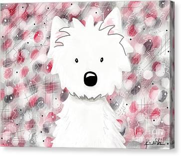 Westie Impressions II Canvas Print
