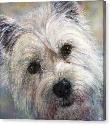 Westie Canvas Print by Linnell Esler