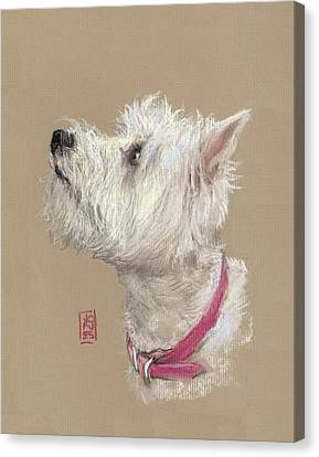 Westie Canvas Print - Westie Profile by Debra Jones