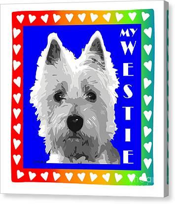 Westie Tshirt Canvas Print
