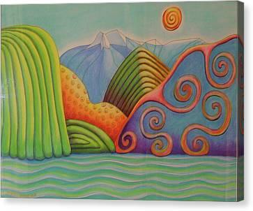 Westland Lake Nz Canvas Print by Barbara Stirrup