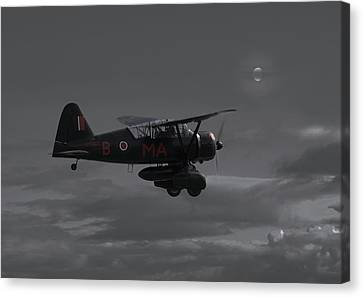 Westland Lysander - Moonlit Mission Canvas Print by Pat Speirs
