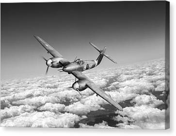 Westland Whirlwind Portrait Black And White Version Canvas Print by Gary Eason