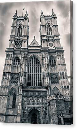 Westminister Abbey Bw Canvas Print