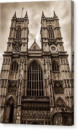 Westminister Abbey Sepia Canvas Print