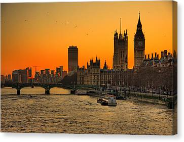Westminster & Big Ben London Canvas Print by Photos By Steve Horsley