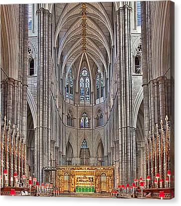 Canvas Print featuring the photograph Westminster Abbey by Digital Art Cafe
