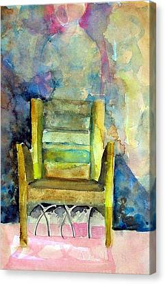 Westminster Abbey Queen Chair Canvas Print by Mindy Newman