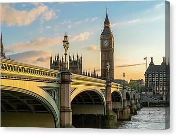 Westminster Bridge At Sunset Canvas Print