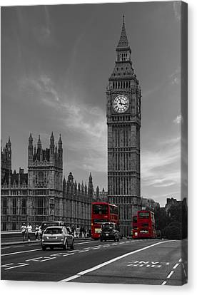 Westminster Bridge Canvas Print by Martin Newman