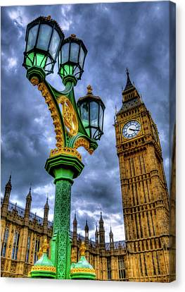 Lamp Post Canvas Print - Westminster by Svetlana Sewell