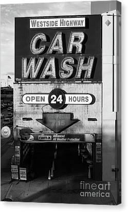 Westside Highway Car Wash Nyc Canvas Print by Edward Fielding