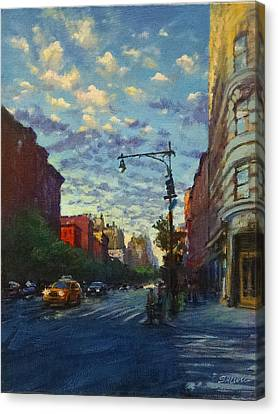 Westside Sunset No. 4 Canvas Print by Peter Salwen