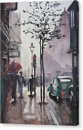 Wet Afternoon Canvas Print by Geni Gorani