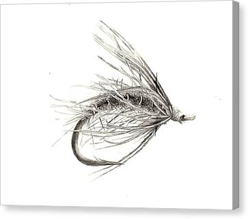 Wet Fly Canvas Print by Marsha Karle