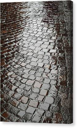 Canvas Print featuring the photograph Wet Lucca Street by Michael Flood