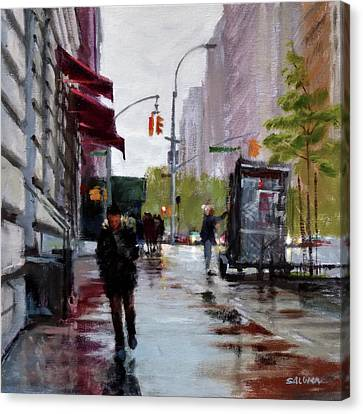 Wet Morning, Early Spring Canvas Print by Peter Salwen