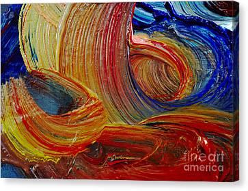 Wet Paint - Run Colors Canvas Print by Michal Boubin