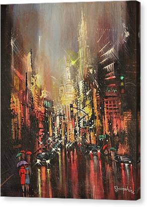 Wet Streets Canvas Print