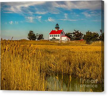 Canvas Print featuring the photograph Wetlands At East Point Light by Nick Zelinsky