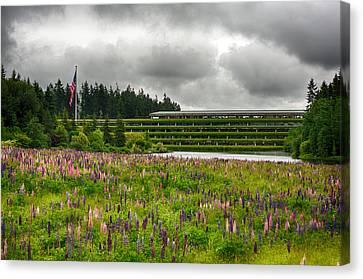 Canvas Print featuring the photograph Weyerhaeuser Headquarters by Dan McManus