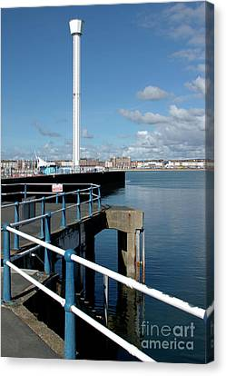 Weymouth Pavillion Pier And Tower Canvas Print by Baggieoldboy