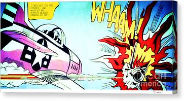 Whaam Canvas Print by Roy Lichtenstein