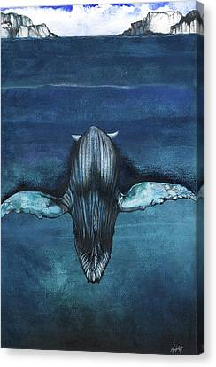 Canvas Print featuring the mixed media Whale IIi by Anthony Burks Sr