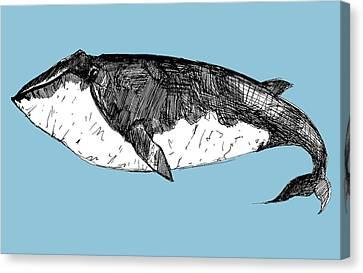 Whale Canvas Print - Whale by Michael De Alba