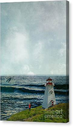 Artography Canvas Print - Whale Watch by AJ Yoder