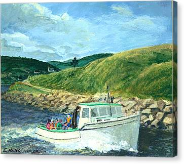 Whale Watching  Nova Scotia Canvas Print by Ethel Vrana
