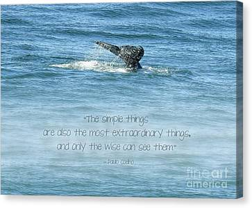 Canvas Print featuring the photograph Whale's Tail by Peggy Hughes
