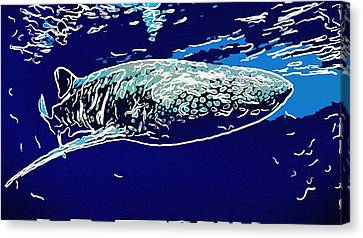 Whaleshark  Canvas Print by Lanjee Chee