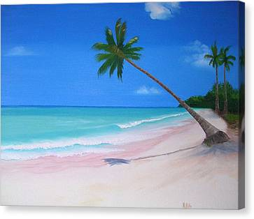 What A Beach Day Canvas Print