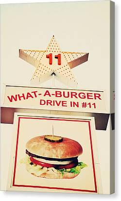 What A Burger Canvas Print by Kim Fearheiley