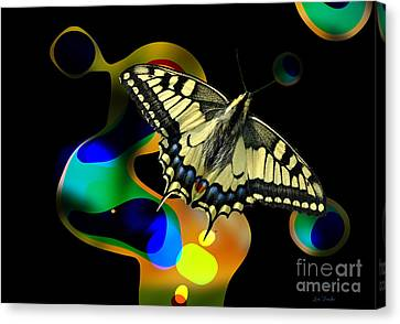 What A Butterfly Sees Canvas Print