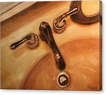 Canvas Print featuring the painting What A Drip by Rachel Hames
