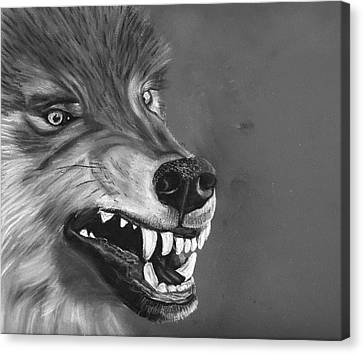 What Big Teeth You Have Canvas Print by Jessica Kale