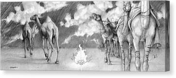 Camel Canvas Print - What Do I Still Lack? by Ryan Flanders
