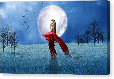 Red Dress Canvas Print - What Dreams Are Made Of by Marvin Blaine