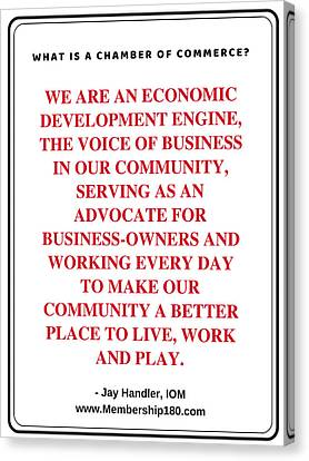 What Is A Chamber Of Commerce? Canvas Print