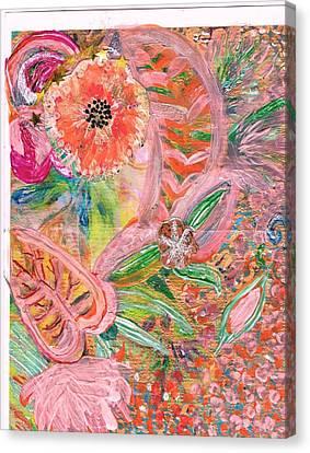 What Makes You Happy Canvas Print by Anne-Elizabeth Whiteway