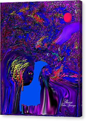 Canvas Print featuring the digital art What Planet Are You Going To by Sherri  Of Palm Springs
