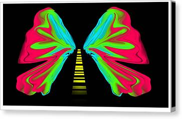 What The Road Canvas Print by XERXEESE Color Schemes