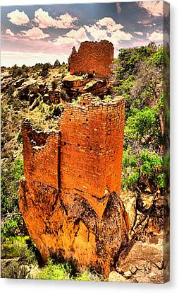 Pueblo Architecture Canvas Print - What Was by Jeff Swan