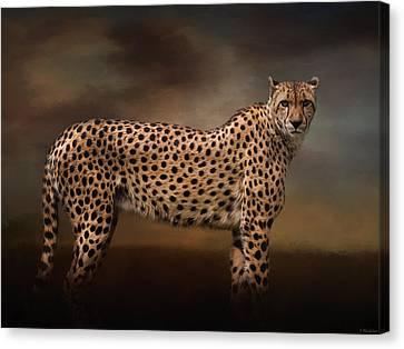 What You Imagine - Cheetah Art Canvas Print by Jordan Blackstone